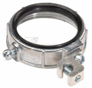 """Topaz 337A 2-1/2"""" Grounding Lug Wire Size Min 6Max 250 MCM  With Aluminum Lay-In Lug - Zinc Die Cast  Insulated Metallic Grounding Bushings"""