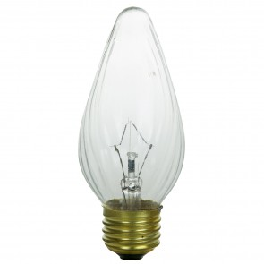 Sunlite 34000 40 Watt Flame Twist Light Bulb, Medium Base, Clear, 2 Pack
