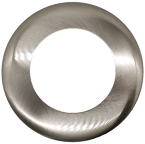 Goodlite 48374 T4/R/COVER/NICKEL Round Slim Shape ,Brushed Nickel Finish,4 Inch  Trim Replacement