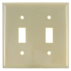 Sunlite 50512 E102/I 2 Gang Toggle Switch Plate, Ivory