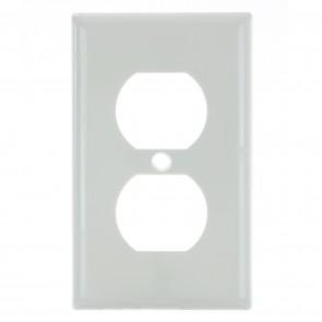 Sunlite 50607 E211/W 1 Gang Duplex Receptacle Plate, White