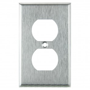 Sunlite 50640 E211/S 1 Gang Duplex Receptacle Plate, Steel