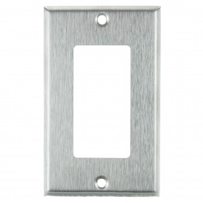 Sunlite 50703 E301/S 1 Gang Decorative Switch and Receptacle Plate, Steel