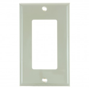 Sunlite 50707 E301/I 1 Gang Decorative Switch and Receptacle Plate, Ivory