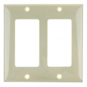 Sunlite 50722 E302/I 2 Gang Decorative Switch and Receptacle Plate, Ivory
