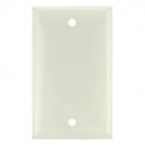 Sunlite 50760 E401/A 1 Gang Blank Switch and Receptacle Plate, Almond