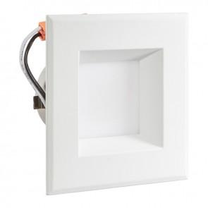 "Luxrite 23009 LED/DL4/5000K/FL/ES/SQ 4"" Square Retrofit Smooth 5000K Bright White"
