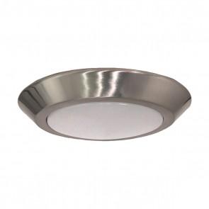 "Satco 62-1262R1 7"" LED DISC LIGHT - HIGH LUMEN Round Shape Contemporary Style Aluminum Material,Brushed Nickel Finish 120V Volts LED Disk Light Warm White 3000K"