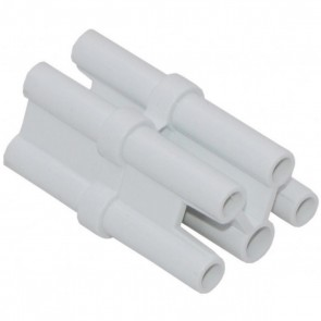 Satco 65-1118 QUICK CONNECTOR ,White Finish Quick Connector For Use with Connectable Strip Lights