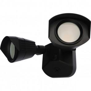 Satco 65-214 LED DUAL HEAD SECURITY LIGHT ,Black Finish 100V-277V Volts LED Security Lighting Warm White 3000