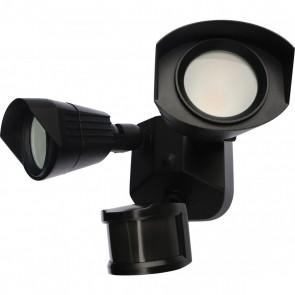 Satco 65-215 LED DUAL HEAD SECURITY LIGHT ,Black Finish 120V Volts LED Security Lighting Warm White 3000