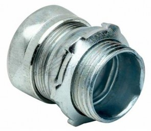 Topaz 654S 1-1/4 Inch Zinc plated Finish Compression Type -Steel EMT Connectors