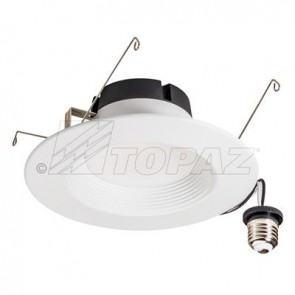 Topaz 71089 RTL/653WH/8W/D-46 8 Watts Round Shape,White Finish Performance Baffle Trim LED Recessed Downlights  5000K Bright White