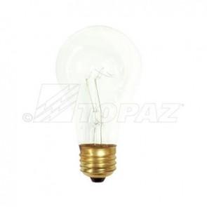 Topaz 79300 40A/RS/CL 40 Watts A19 Shape E26 Base     Rough Service  Incandescent Lamps