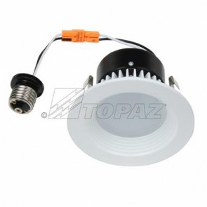 Topaz 79719 RTL/433WH/90/D-28 11 Watts White Finish Designer - Round Baffle Trim LED Recessed Downlights 3000K Warm White