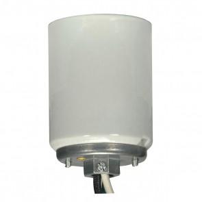 "Satco 80-1449 MOGUL GLZ SKT W/ 1/4CAP W/20"" Glazed finish Porclean Mogul lamp socket"