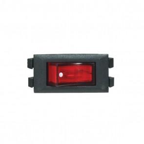 Satco 80-1819 BLK ROCKER ON/OFF LIGHTED SW. W/Dot On-Off Phenolic Rocker Switch.