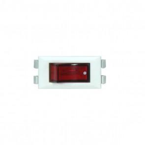 Satco 80-1820 WHITE ROCKER ON/OFF LIGHTED SW W/Dot On-Off Phenolic Rocker Switch.