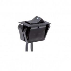 Satco 80-1947 BLACK MINI ROCKER SW ZE200 On-Off Phenolic Rocker Switch W/Dot
