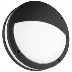 Sunlite 81308 LFX/BOF/20W/30K/BK Round LED Decorative Outdoor Fixture, 3000K - Warm White, Textured Black Finish