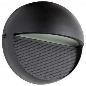 Sunlite 81309 LFX/BOF/12W/30K/BK Round LED Decorative Outdoor Fixture, 3000K - Warm White, Textured Black Finish