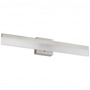 "Sunlite 81310 LFX/BAR/SQ/SG/18""/20W/30K 18"" Linear LED Bar Fixture, 3000K - Warm White, Brushed Nickel Finish"