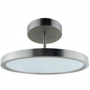 "Sunlite 81311 LFX/MPM/15""/30W/30K/SN 13"" Round LED Solid Band Fixture, 3000K - Warm White, Brushed Nickel Finish"
