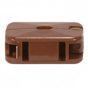 Satco 90-1405 BROWN ADD A TAP , Brown Finish, Non Polarized, 18/2 SPT-1, 10A, 125V Add-On Outlet
