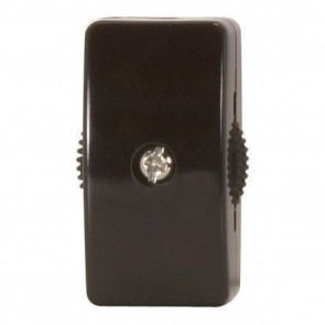 Satco 90-574 CORD SWITCH FOR 18/2 WIRE BROW For 18/2 SPT-2, 6A-125V, 3A-250V, 3A-120V, 3A-125V, Brown Finish On-Off Cord Switch