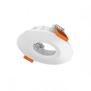 Luxrite AS50203 DLMD TRIM #WRIR ,White Finish Recessed Ip44 Round Trim LED Module & Driver,