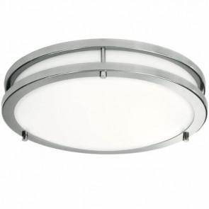LightBlueUsa LB72121 15 Watts Oil Rubbed Bronze Finish 12 Inch LED Double Ring Semi-Flush Mount Ceiling Fixtures Cool White 4000K