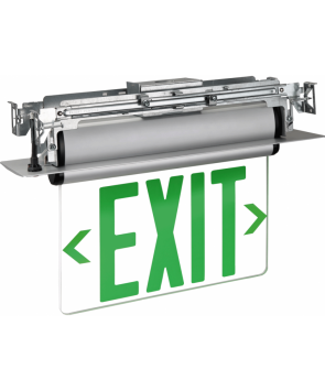"GreenBeam EX623UG 6"" LED Edge Lit Universal Exit Sign Green Latters"