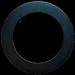 Goodlite 48379 T6/R/COVER/BLACK Round Slim Shape ,Black  Finish.,6 Inch  Trim Replacement