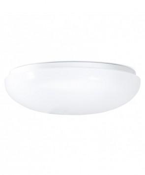 "GreenBeam GBCL400 12"" Bianco Flush Mount Round Fixture, 100 Watt Equivalent, 3000K Warm White"