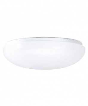 "GreenBeam GBCL400HFSR LED 12"" Bianco Flush Mount Round Fixture, 100 Watt Equivalent, 3000K Warm White, W/ High Frequency Occupancy On/Off Sensor"