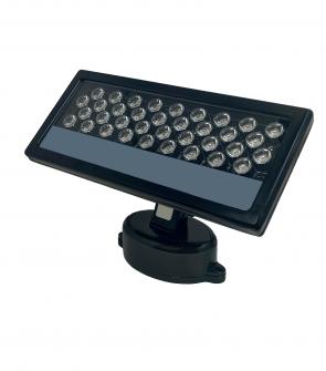 LightBlueUsa LB75101 36 Watt LED Wall Washer RGB (Black Housing)