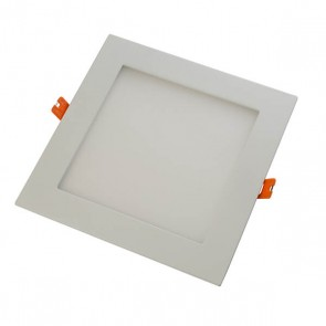 LightBlueUsa LB11385 9 Watts Square Shape White Trim 4 Inch Downlight Slim Panel Neutral White 3500K