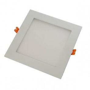 LightBlueUsa LB11347-BK 12 Watts Square Shape Black Trim 6 Inch Downlight Slim Panel Warm White 3000K