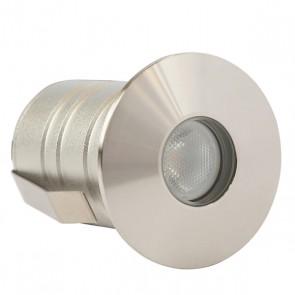 LightBlueUsa LB77101 3 Watt WW, Stainless Steel, IP67 LED Outdoor Underground Light Soft White,3000K
