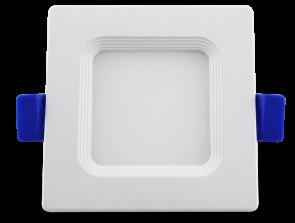 "Luxrite 23697 LED/MINI3/PANEL/30K/SQ 7W 3"" Mini Panel Square SOFT WHITE 3000K"