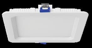 "Luxrite 23709 LED/MINI6/PANEL/30K/SQ 12W Dimmable 6"" Mini Square Panel SOFT WHITE 3000K"