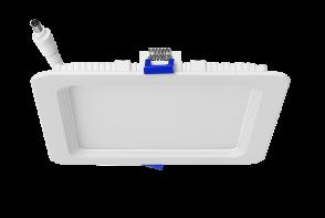 "Luxrite 23711 LED/MINI6/PANEL/50K/SQ 12W Dimmable 6"" Mini Square Panel BRIGHT WHITE 5000K"