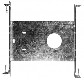 Luxrite LR41002 UNIVERSAL ROUND MOUNTING PLATE MP-UNV-3/4/6   Aluminum Finish   Mounting Plate