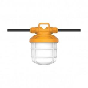 Satco S28976,50-FT/LED/5PC/TEMP/STRING/120V,50 Watts,120V Volts,Corncob Plug Plug 2-Prong Base,Orange Finish,Work Light-LED ,5000K Natural Light