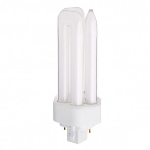 Satco S4367,CF18DT/827 2 PIN OSRAM ONLY,18 Watts, ,T4 GX24d-2 Base,Frosted Finish,PL 2-Pin-Compact Fluorescent Light,2700K Warm White