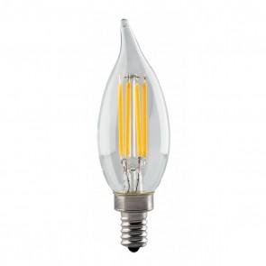 Satco S8552,4.5W CFC/LED/27K/CL/120V,4.5 Watts,120V Volts,CA11 E12 Candelabra Base,Clear Finish,Candle-LED Light,2700K Warm White