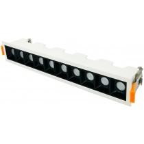 Luxrite 32096 LEDML10/18W/935/D 18 Watt LED Recessed Mount Head Multi Light Downlight ,Natural 3500K