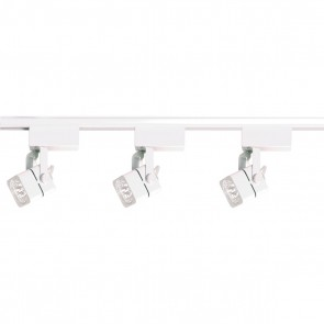 Satco TK310 WHITE MR16 SQUARE TRACK KIT Low Voltage White Finish Miniature 2 Pin Round Base Halogen MR16 - Square Track Kit
