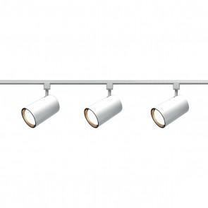 Satco TK318 WHITE R30 STRAIGHT CYL TRACK K White Finish Medium Base Incandescent R30 - Straight Cylinder Track Kit