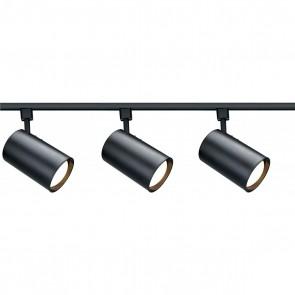 Satco TK319 BLACK R30 STRAIGHT CYL TRACK K Black Finish Medium Base Incandescent R30 - Straight Cylinder Track Kit
